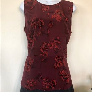Emerson Rose Silk Blouse with Peplum NWOT